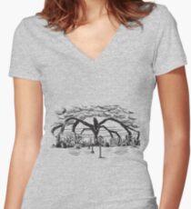Stranger Monster Women's Fitted V-Neck T-Shirt
