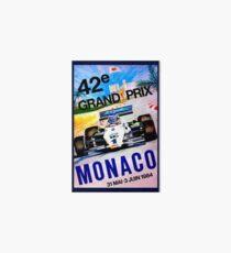 MONACO : Vintage 1984 Grand Prix Auto Racing Advertising Print Art Board