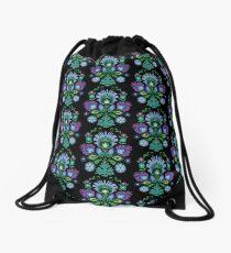 Polish Folk Art Design: Blue Drawstring Bag