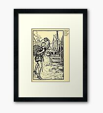 Robin Hood and his Merry Men by Maude Radfor Warren art Milo Winter 1914 0209 Gayly to Forest with Silver Burden Framed Print
