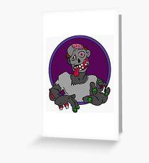 Goofy Cartoon Zombie  Greeting Card
