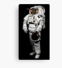Space Penguin Hoodie Canvas Print