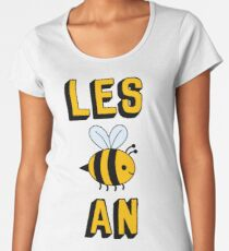 LES BEE EINE LESBIAN Premium Rundhals-Shirt