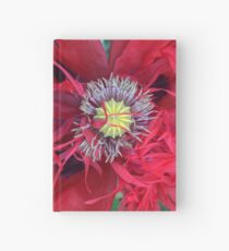 Double Red Poppy Hardcover Journal