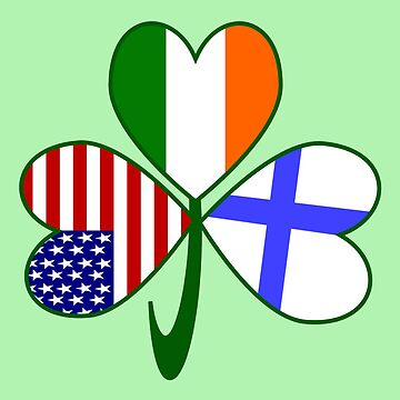 Finnish Irish USA Shamrock Flag by AuntieShoe