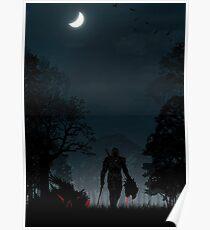 Warriors Landscapes - The Witcher Wild Hunt - Geralt Poster