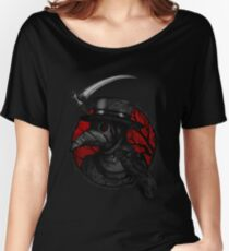 Plaguedoctor Red and Black Illustration Women's Relaxed Fit T-Shirt
