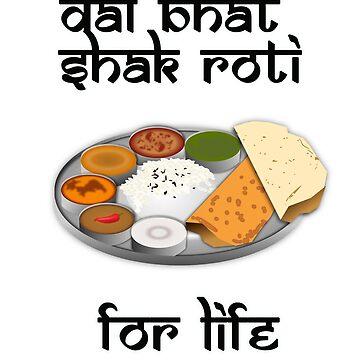 Dal, Bhat, Shak, Roti by gujjuevolution