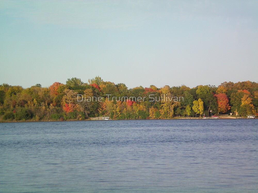 Fall on my lake by Diane Trummer Sullivan
