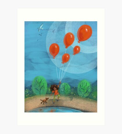 Balloon Lift Off 1 Art Print