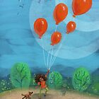 Balloon Lift Off 1 by TraciVanWagoner