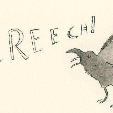 Inktober 2017: Screech by PersonalGenius