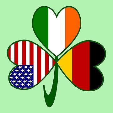German Irish USA Flags Shamrock by AuntieShoe