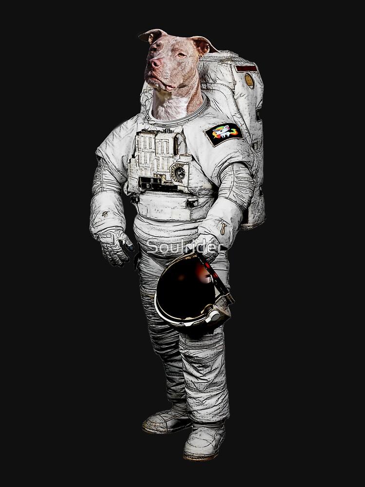 Space Pit Bull Terrier Hoodie von Soulrider