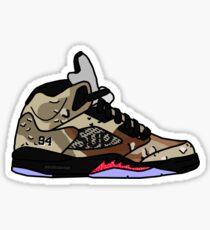 Jordan 5 Supreme Camo Sticker