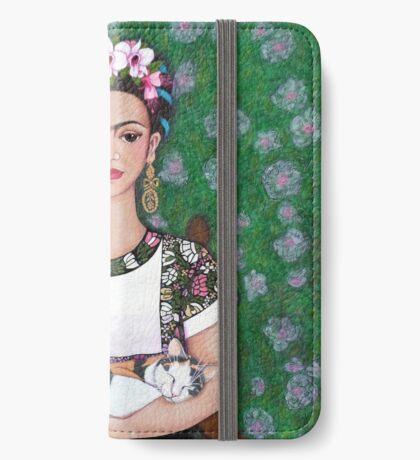 Frida cat lover iPhone Wallet