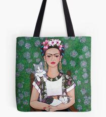 Frida cat lover Tote Bag