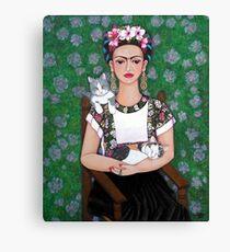 Lienzo Frida cat lover