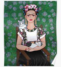 Frida cat lover Poster
