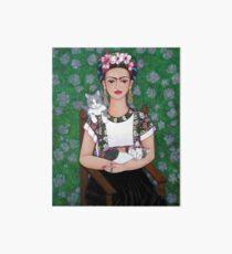 Frida cat lover Art Board