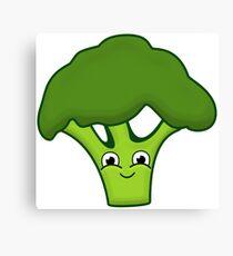 Happy Broccoli Canvas Print