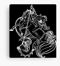 St. George - SLAY YOUR DRAGONS, dark Canvas Print