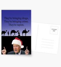 A Trump Christmas, the three wise men Postcards