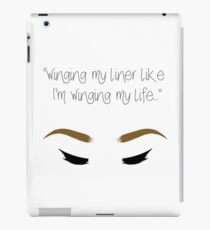 """Winging my liner..."" iPad Case/Skin"