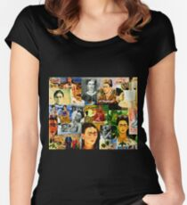 Obsessed with Frida Kahlo Women's Fitted Scoop T-Shirt