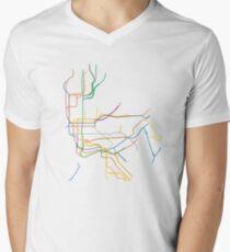 New York City Subway Men's V-Neck T-Shirt