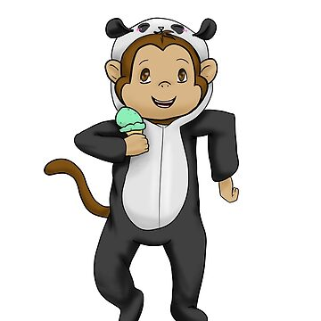 Monkey in a panda suit by PinkPocky97