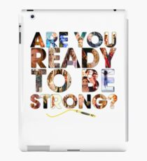 Buffy the Vampire Slayer - Are You Ready To Be Strong iPad Case/Skin
