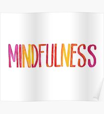 Watercolor Mindfulness Poster