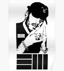 Russ Black/White Poster