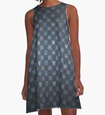 KH pattern - blue A-Line Dress