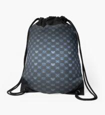 KH pattern - blue Drawstring Bag