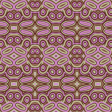 Pink ovals - abstract pattern by Lenka24