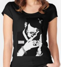 Russ Black White Women's Fitted Scoop T-Shirt