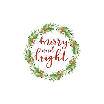 Christmas wreath-Merry and bright by SylviaCook