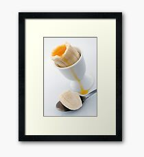 Soft Boiled Banana Framed Print