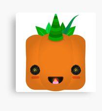 Excited Jack O' Lantern Pumpkin Canvas Print