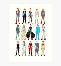 Outfits of Heroes  Art Print