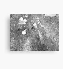 Halloween - Skulls on the ground Metal Print