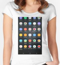 Android apps Women's Fitted Scoop T-Shirt