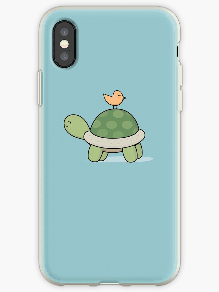 wholesale dealer 2fae9 1eb73 'Kawaii Cute Tortoise and Bird' iPhone Case by wordsberry