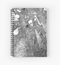 Halloween - Skulls on the ground Spiral Notebook