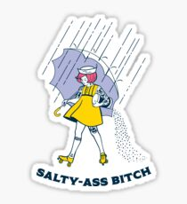 Salty-Ass Bitch - Morton Salt Vintage Roller Derby Girl Sticker