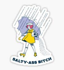 Salty-Ass Bitch - Morton Salz Vintage Roller Derby Girl Sticker