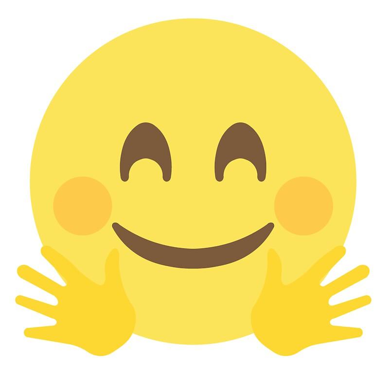 Hugging face emoji by ethanwonggd
