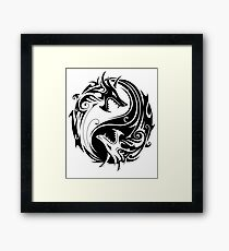 Yin Yang Dragon T-shirt Framed Print